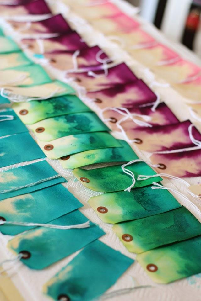 DIY Dip Dye Gift Tags