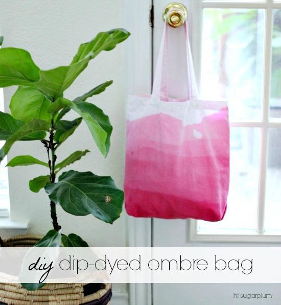 DIY Dip Dye Tote bag
