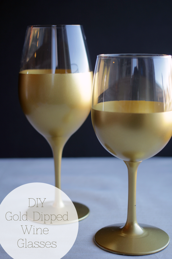 DIY Dipped Wine Glasses