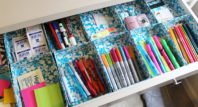 DIY Duct Tape Drawer ORganizer