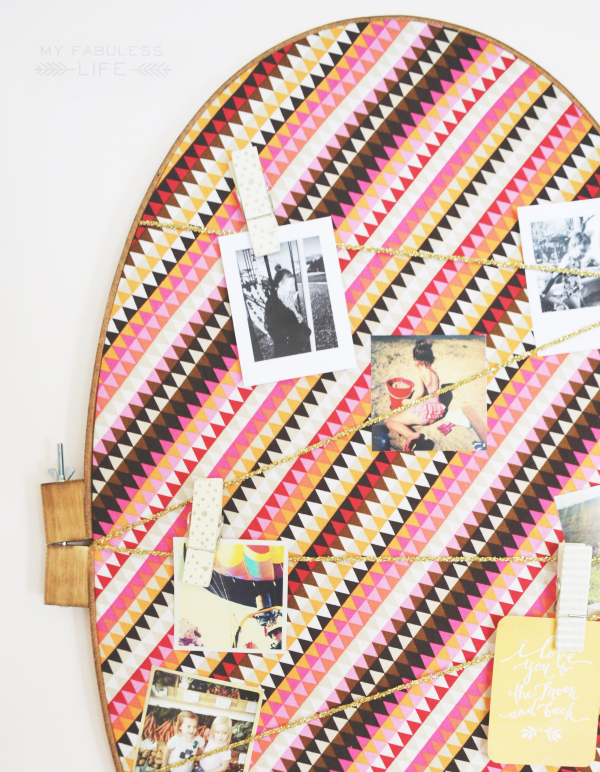 DIY Embroidery Hoop Bulletin Board