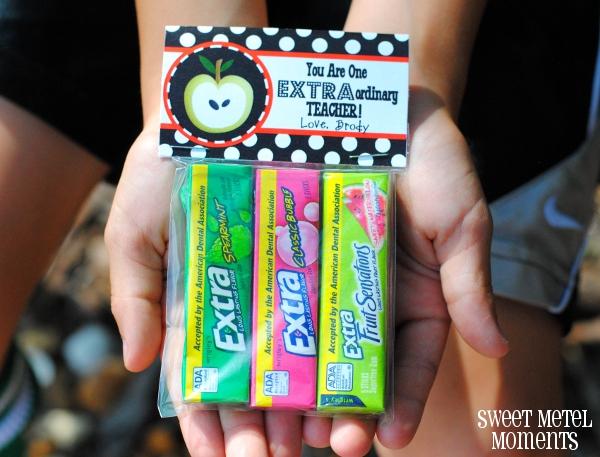 DIY Extra Gum Teacher Gift