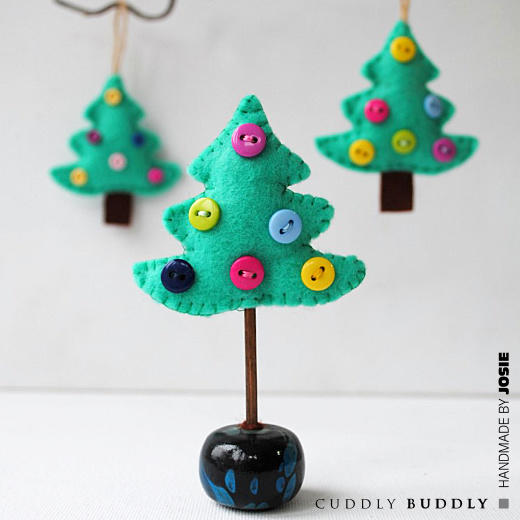 DIY Felt Tree Ornament