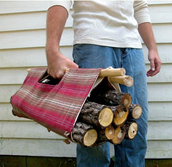 DIY Firewood Tote