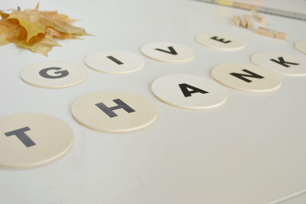 DIY Give Thanks Banner For Thanksgiving Arrange