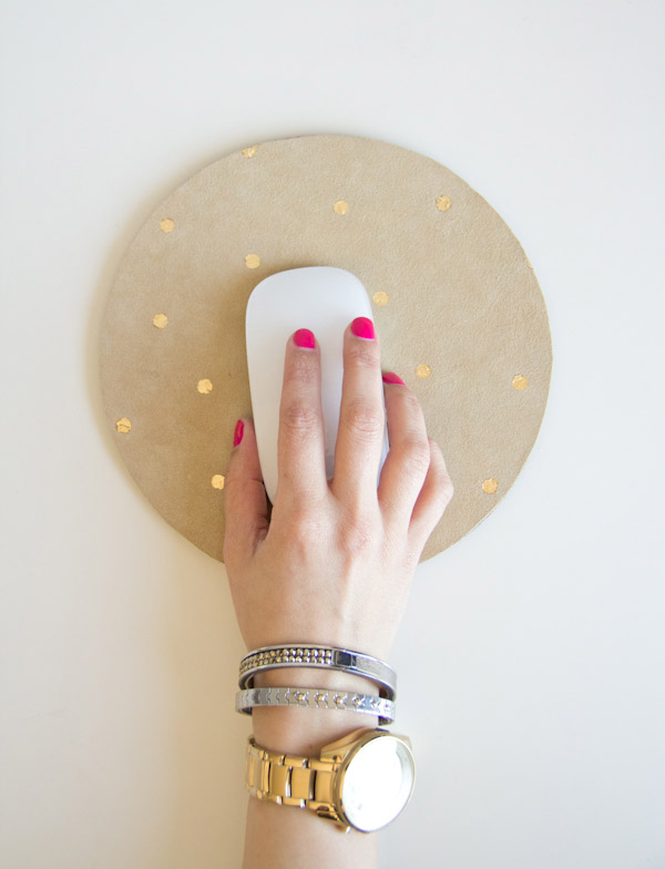 DIY Gold Leaf Mousepad