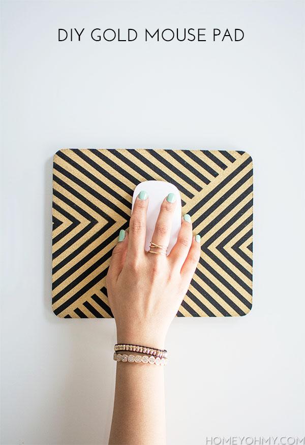 DIY Gold Tape Mousepad