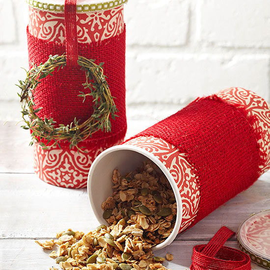 DIY Granola Tin Favor