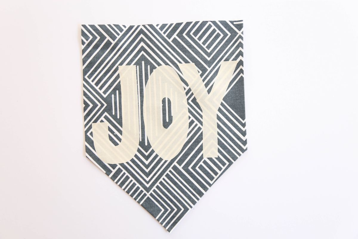 DIY Holiday Fabric Banner - Cut out letters