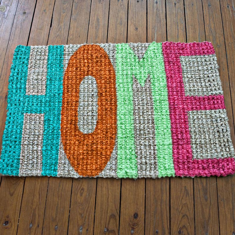 DIY Home Welcome Mat