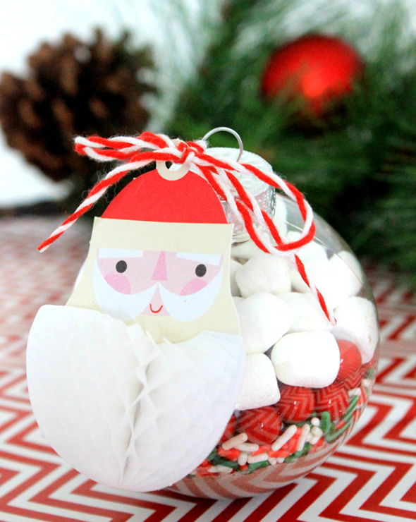 DIY Hot Chocolate Ornament Favors