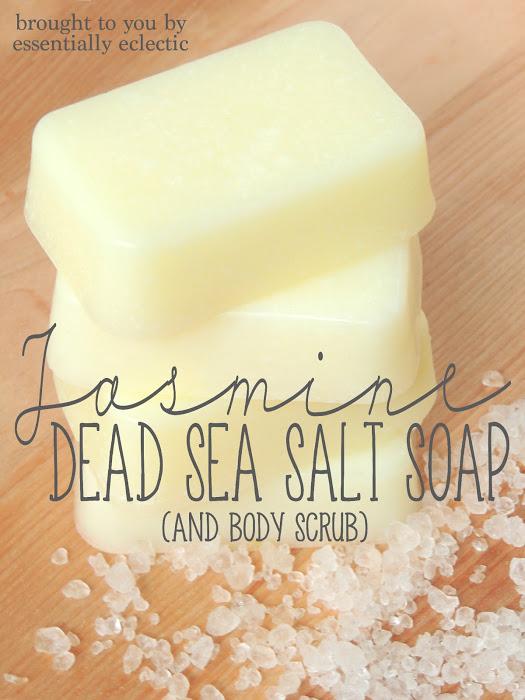 DIY Jasmine Dead Sea Salt Soap
