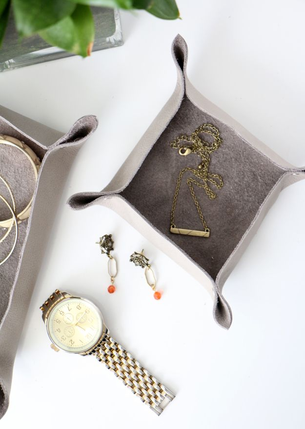 DIY Leather Catchall Project