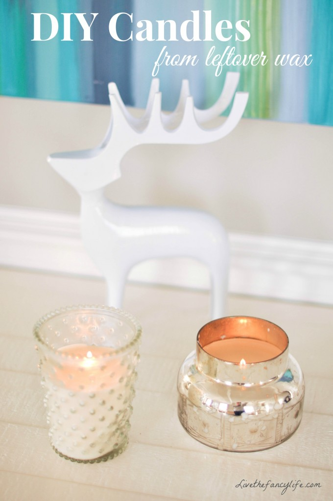 DIY Leftover Wax Candles
