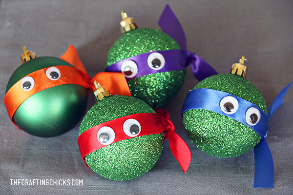DIY Ninja Turtle Christmas Ornaments