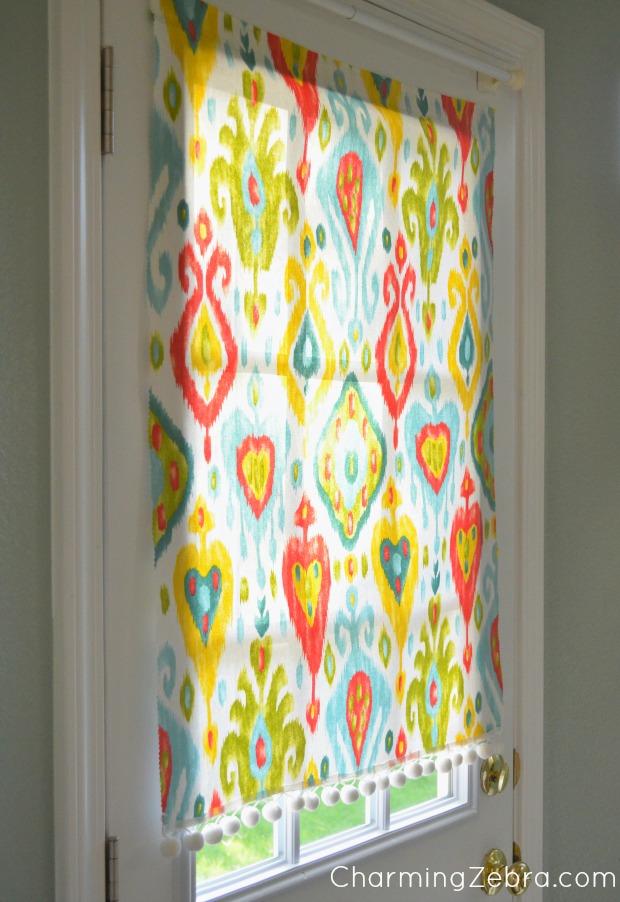 DIY No Sew Window Blind