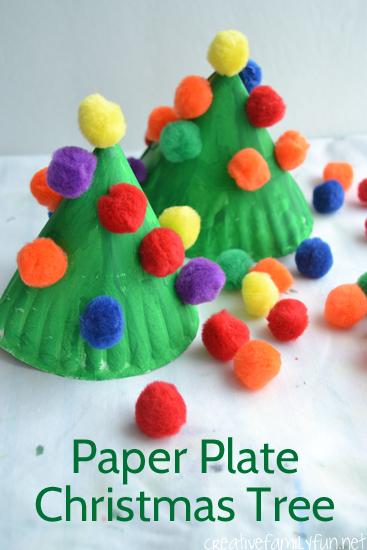 DIY Paper Plate Christmas Tree