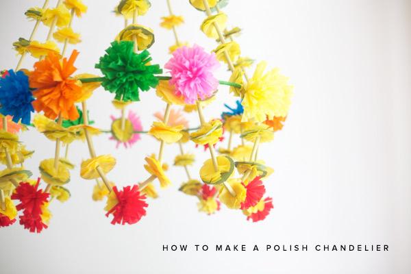 DIY Polish Chandeleir