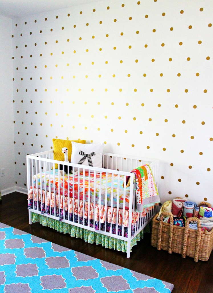 DIY Polka Dotted Wall