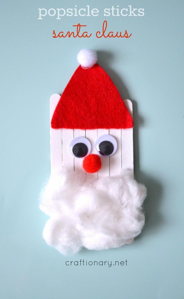 DIY Popsicle Santa