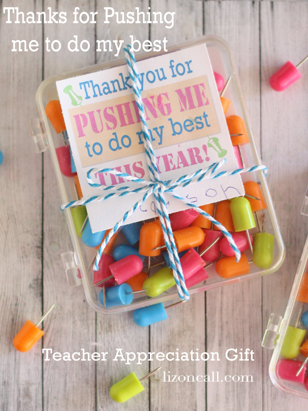 DIY Push Pin Teacher Gift