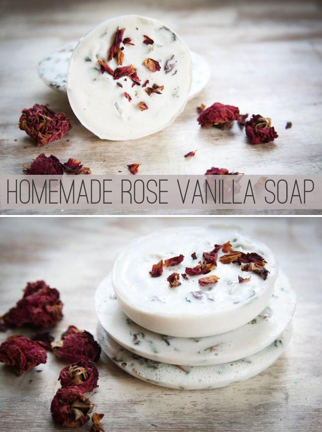 DIY Rose vanilla soap