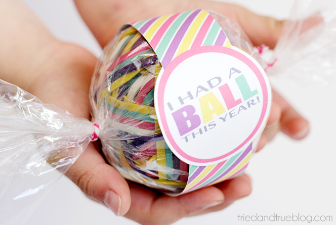 DIY Rubber Band Ball Teacher Gift