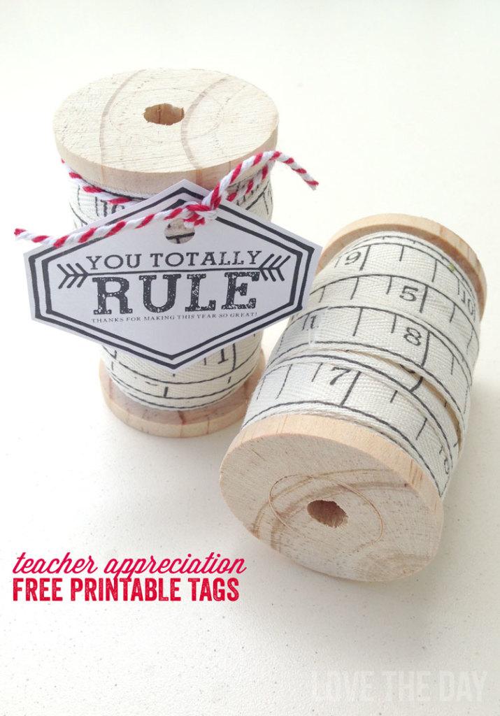 DIY Ruler Teacher Gift