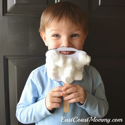 DIY Santa Beard for Kids