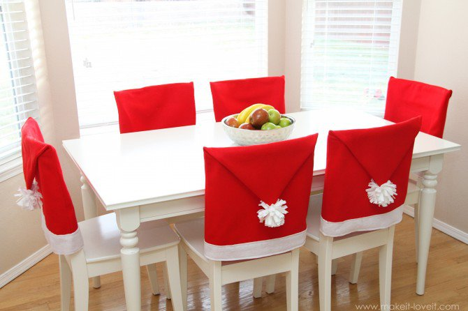 DIY Santa Chair Covers