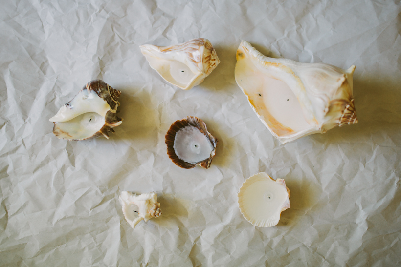DIY Seashell Candle