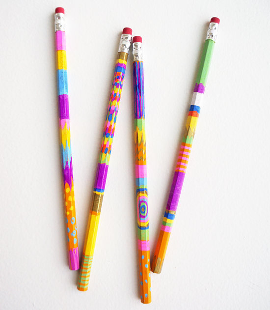 DIY Sharpie Painted Pencils
