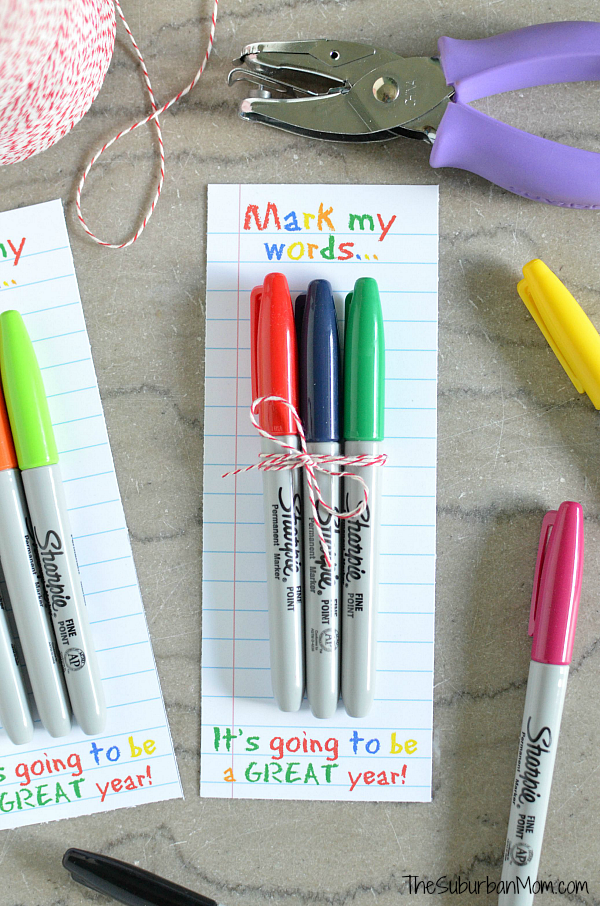 DIY Sharpie Teacher Gift