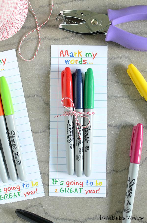 DIY Sharpie Teacher Gift