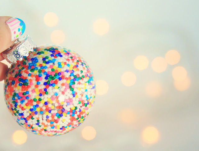 DIY Sprinkle-Filled Ornament