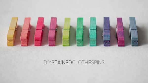 DIY Stained Clothespins