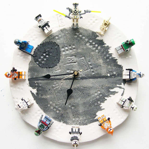 diy star wars lego clock instructables presents