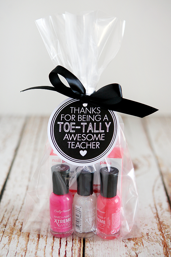 DIY Teacher Nail Polish Gift