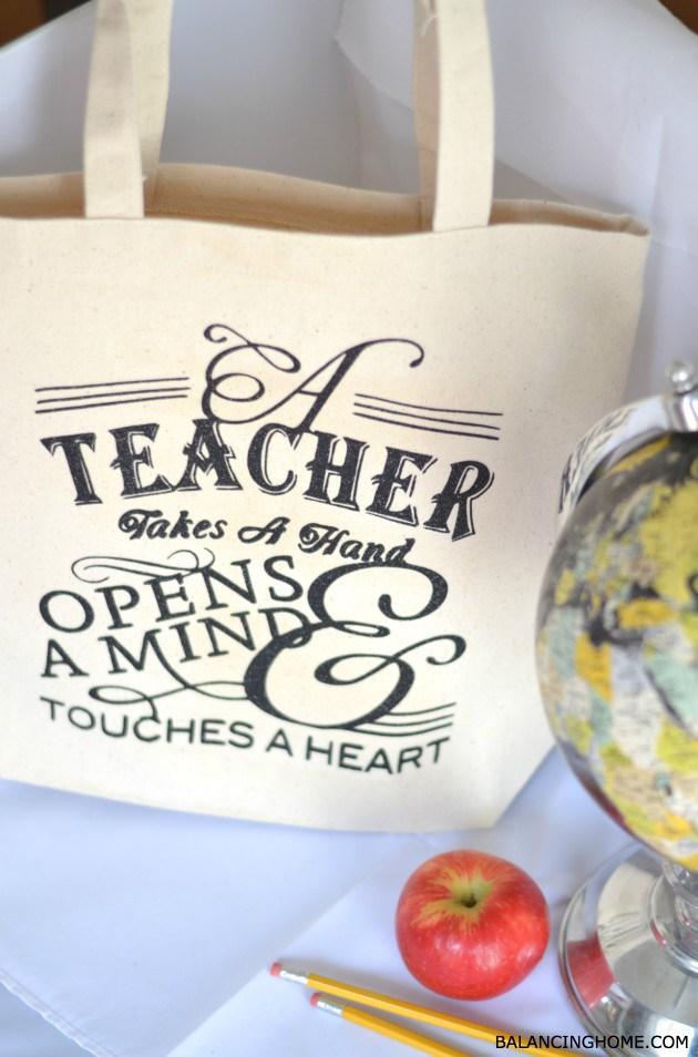 DIY Teacher Tote Bag