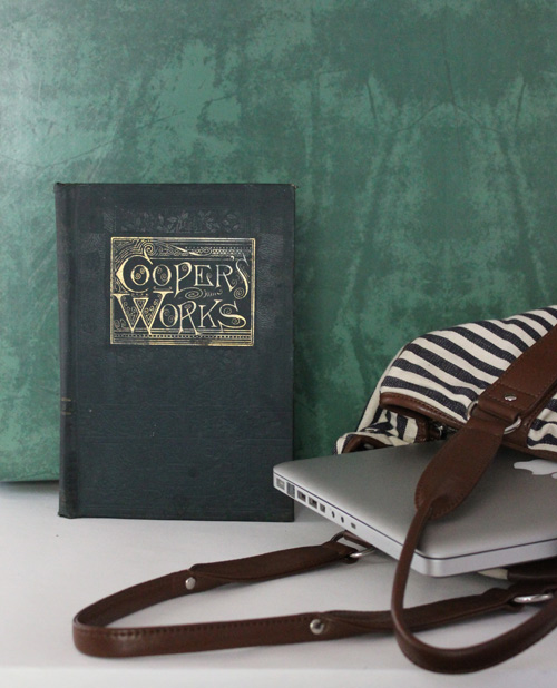 DIY VIntage Book Travel Organizer