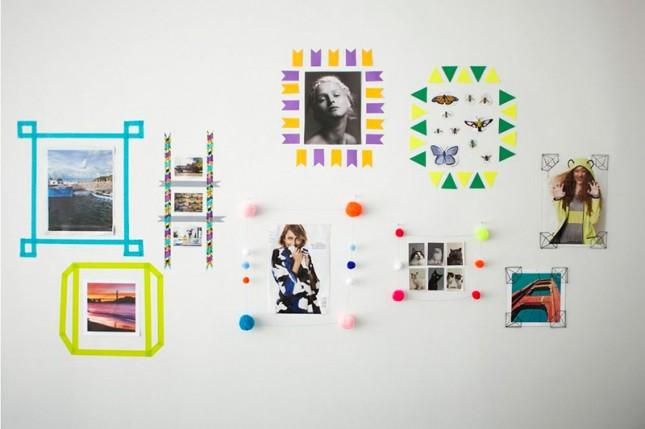 DIY Washi Tape Wall Frames