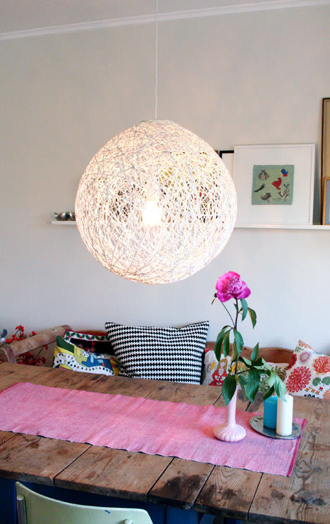DIY Whirl Yarn Chandelier
