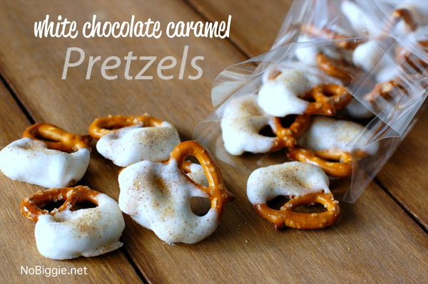 DIY White Chocolate Caramel Pretzels