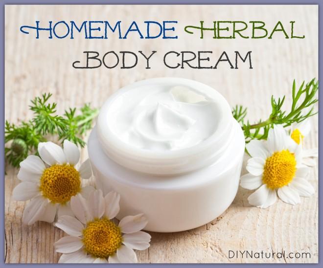 DIY homemade herbal body cream