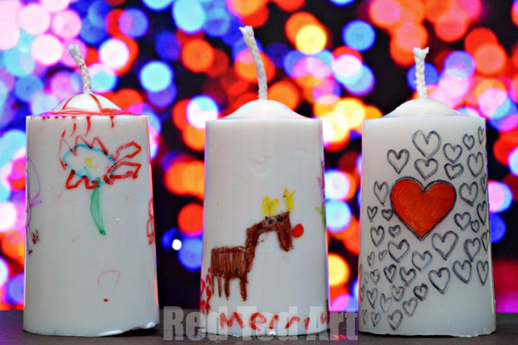 DIy Christmas Kids Candles