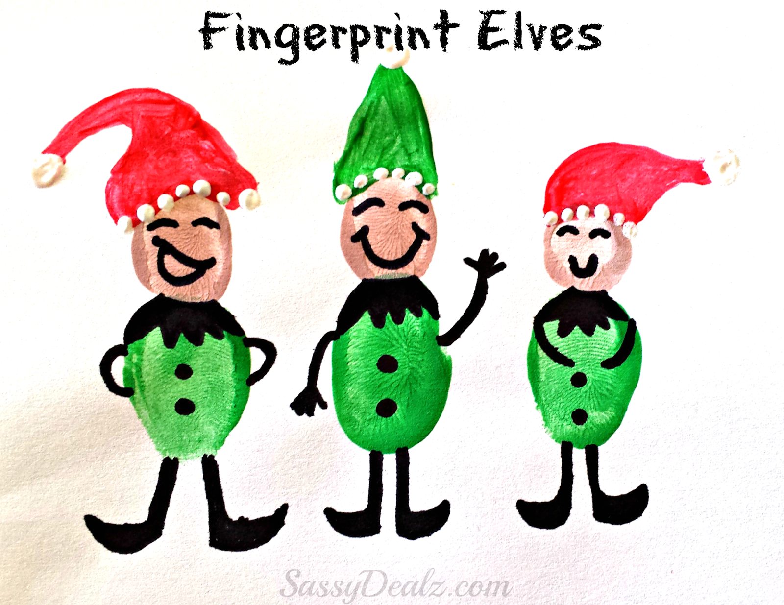 diy fingerprint elves these craft is super easy