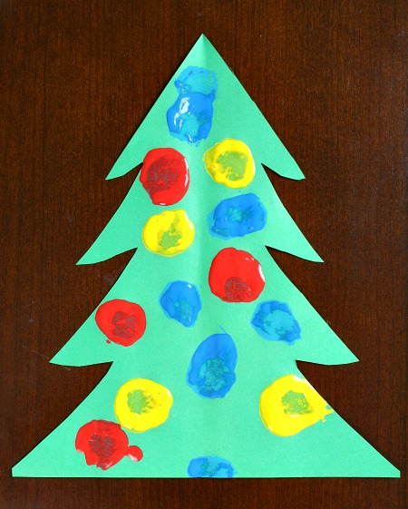 DIy Pom POm Christmas tree paint