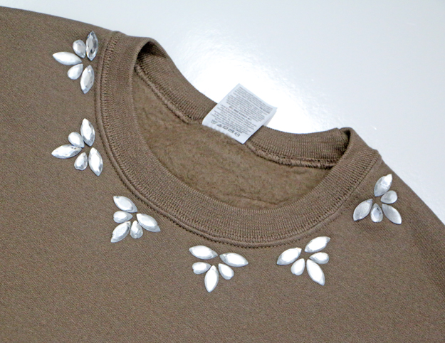 Fall Embellished Sweatshirt Closer