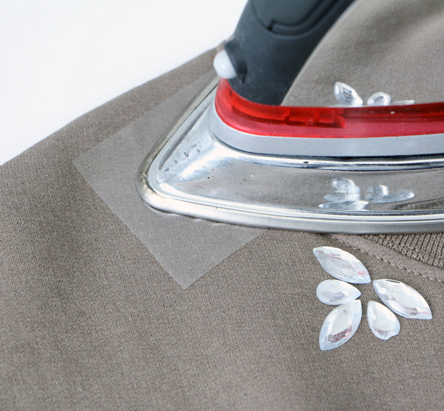 Fall Embellished Sweatshirt Ironing