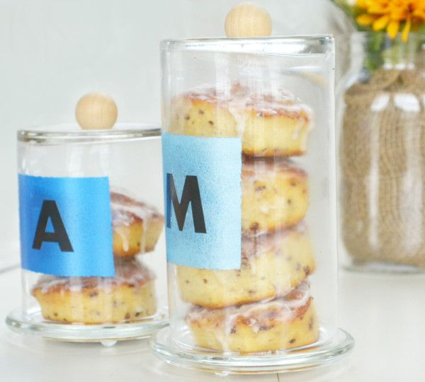 Holiday Gift DIY – Glass Pastry Jars – Stacking Pastries